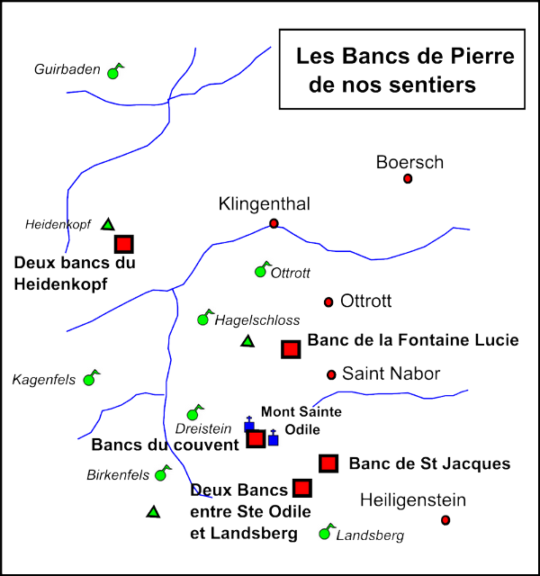carte des bancs