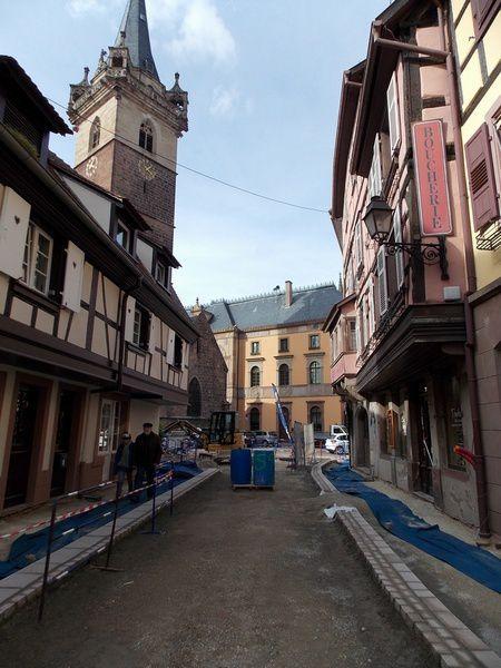 Le secteur piéton à Obernai