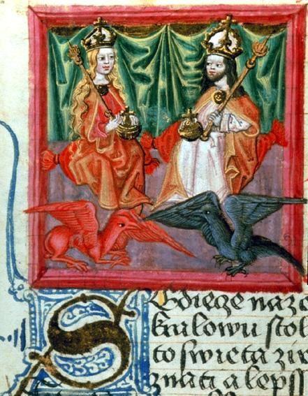 Charles IV et son épouse Blanche de Valois