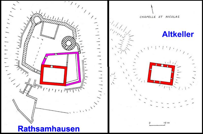 Les ruines de l'Altkeller à Ottrott