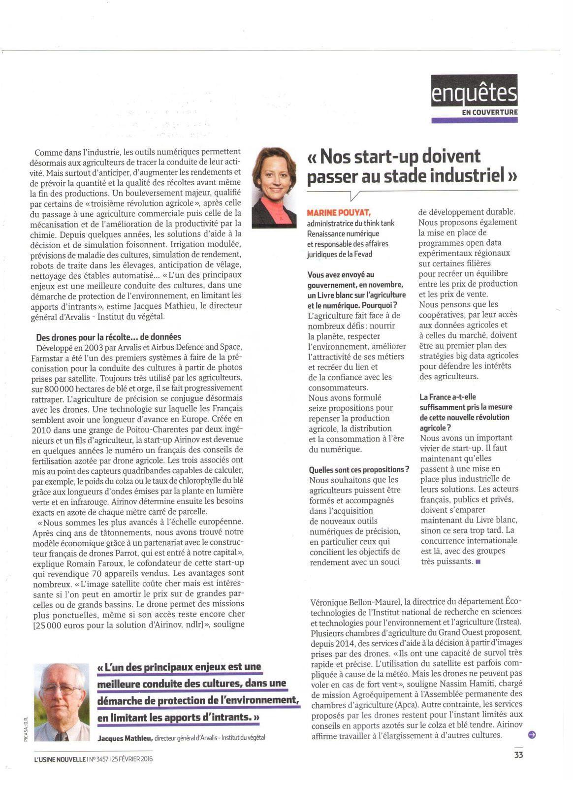 Vus et lus dans l'Usine Nouvelle n° 3457 du 25 février 2016, Smart-Industries n° 9 de mars 2016, Les Echos du 11 avril 2016, et Libération du 10 mai 2016