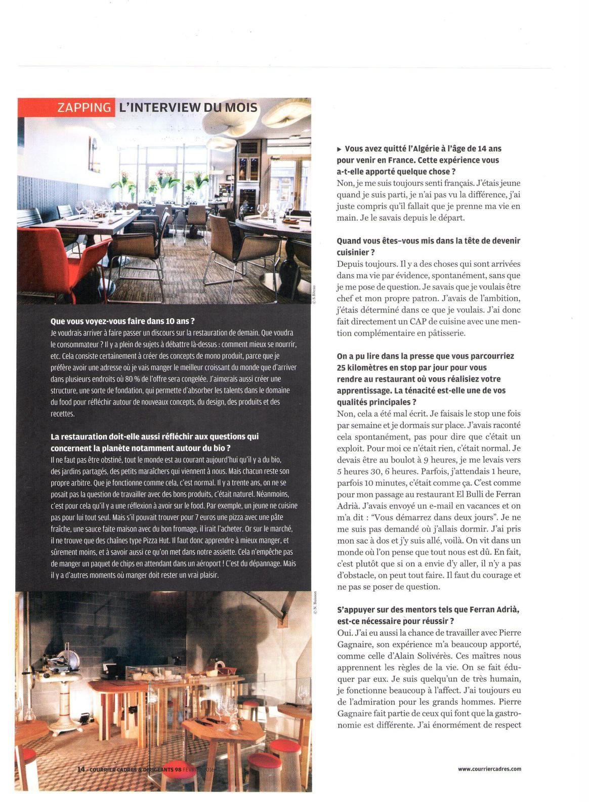 Vus et lus dans Courrier Cadres & Dirigeants de février 2016, et Télérama n°3468 du 29/06/16. Photo : Yann Rabanier pour Télérama n° 3406 du 22/04/15.