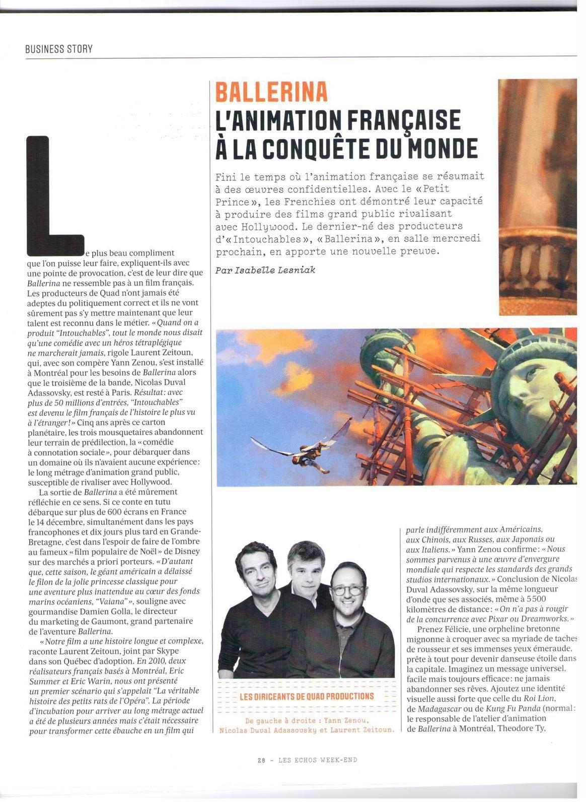 Vu et lu dans Les Echos Week-end n°57 du 09/12/16