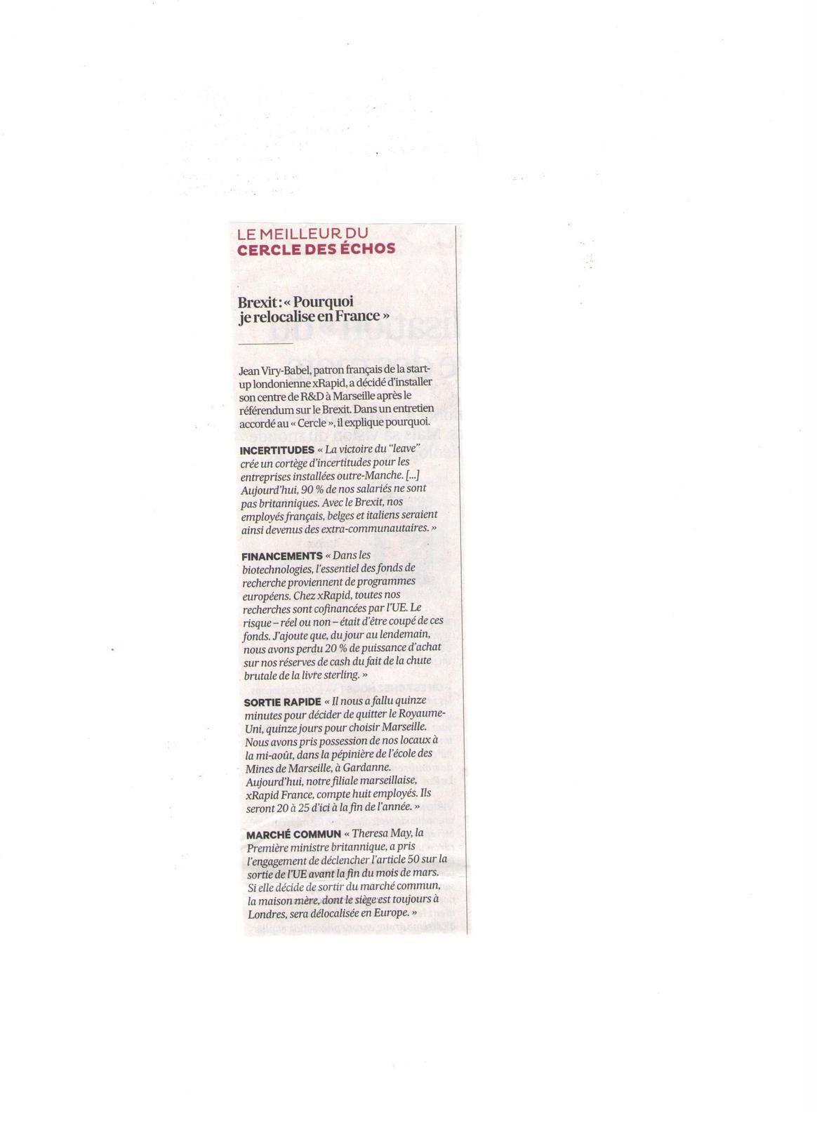 Vus et lus dans Libération du 17 janvier 2017, et Les Echos du 14 et du 31 janvier 2017