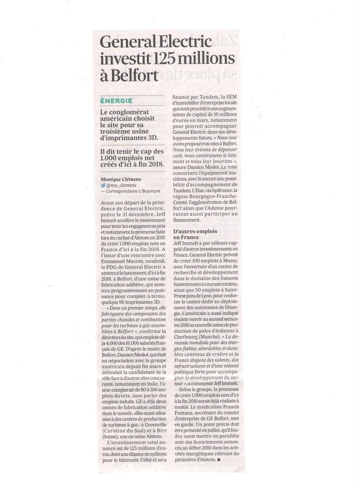 Vus et lus dans Les Echos du 10 mai 2017, du 22 juin 2017, du 05 juillet 2017, et Aeromag de juin 2017