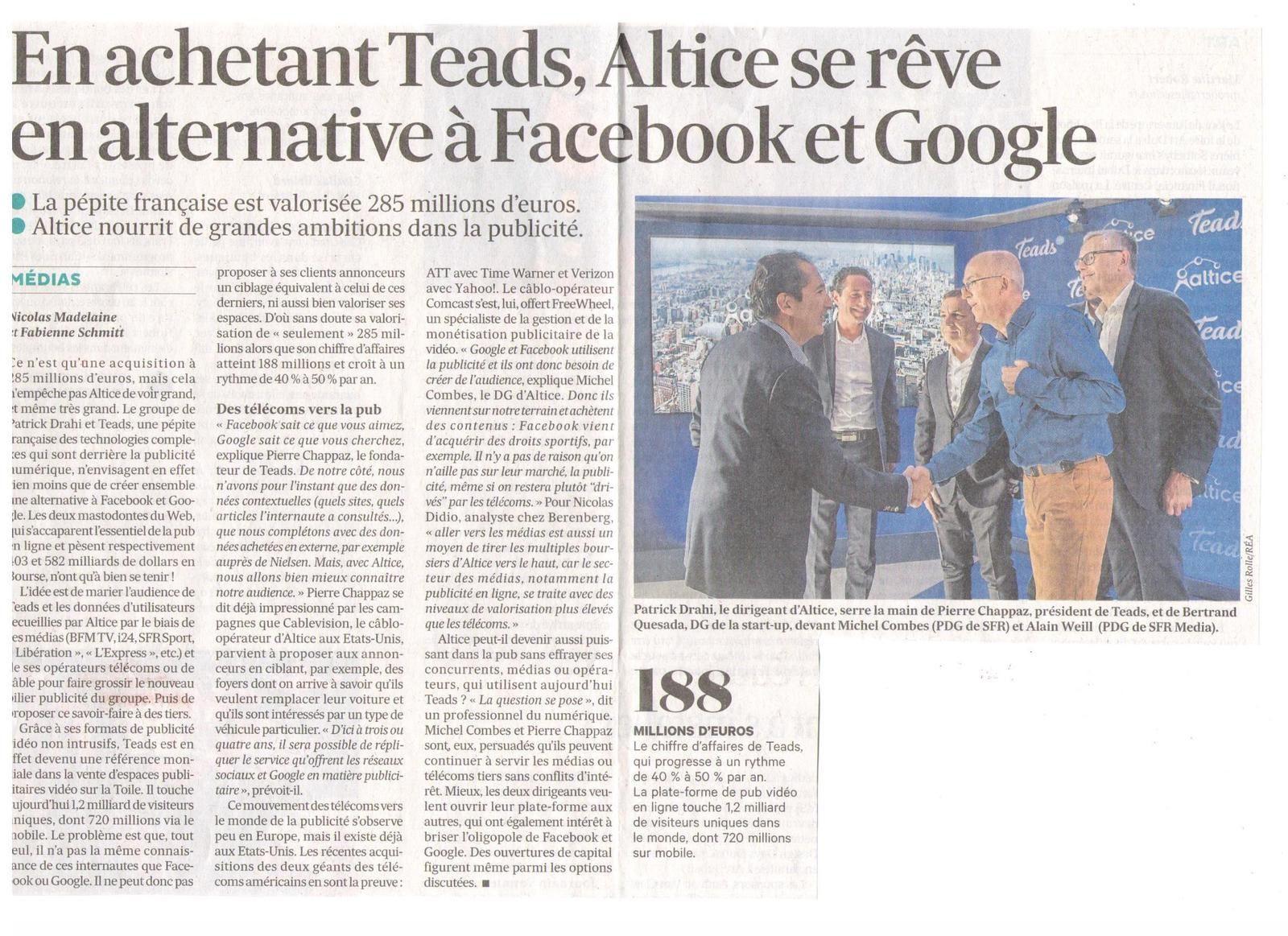 Vus et lus dans Les Echos du 26 janvier 2017 et du 08 et du 30 juin 2017, Le Figaro du 01 février 2017