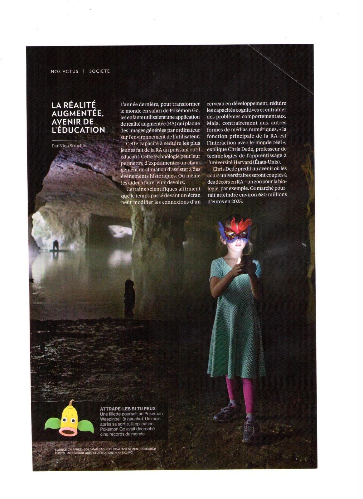 Vus et lus dans Les Echos du 29 mai 2017, du 03 & 24 août 2017, National Geographic n° 210 de mars 2017, et Le Monde du 24 août 2017