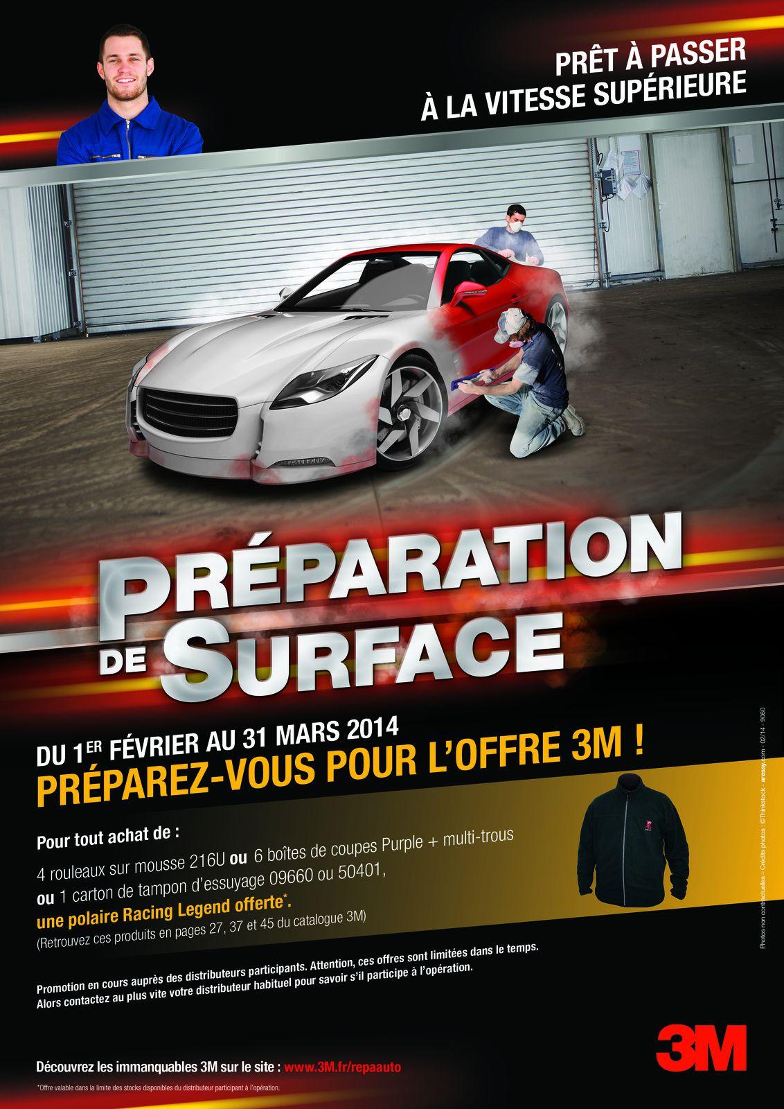 Premier print in-store pour la promotion de produits de préparation de surface. CR : Alexander Faure / DA : T.B