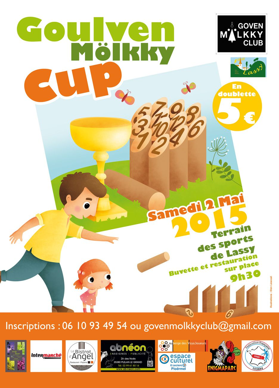 L'Affiche de la 3ème Goulven Mölkky Cup