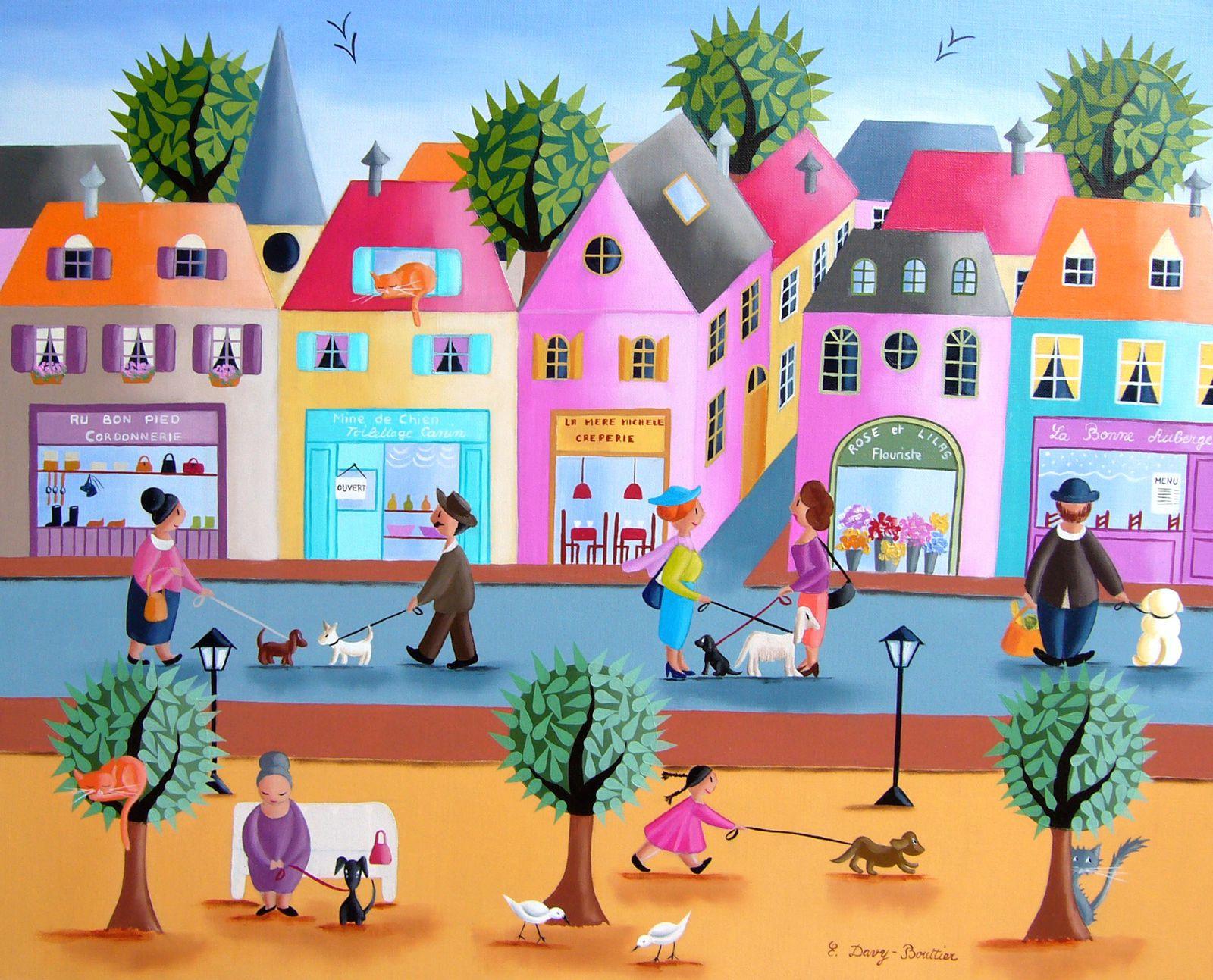 """""""Une vie de chien"""", huile sur toile, 46 x 38"""