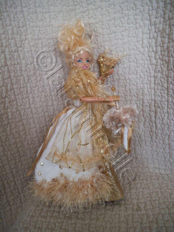 tuto gratuit barbie: éventail et ombrelle pour barbie or princesse aura