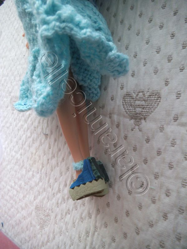 tuto gratuit barbie : sandales en cuir et sac à main en cuir