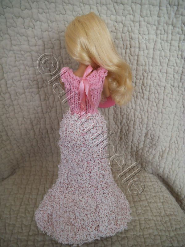 tuto gratuit barbie: robe longue ruban églantine