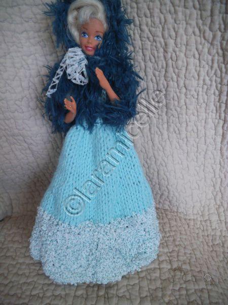 tuto gratuit barbie : robe longue et cape fourrure