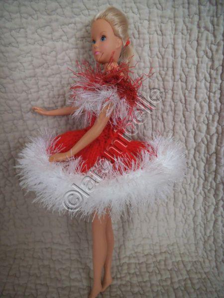 tuto gratuit barbie : barbie en robe mère NOËL