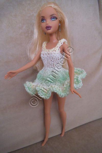 tuto gratuit barbie : robe  fraiche et printanière