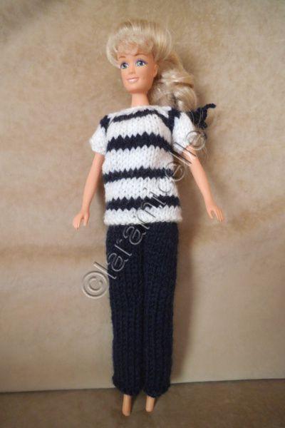 tuto gratuit barbie: marinière manches courtes