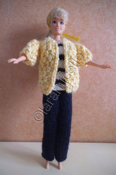 tuto gratuit barbie: veste jaune de marin