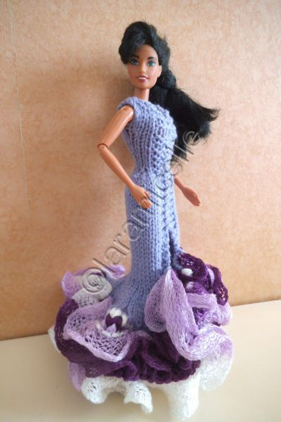 tuto gratuit barbie: le printemps de Barbie en longue robe