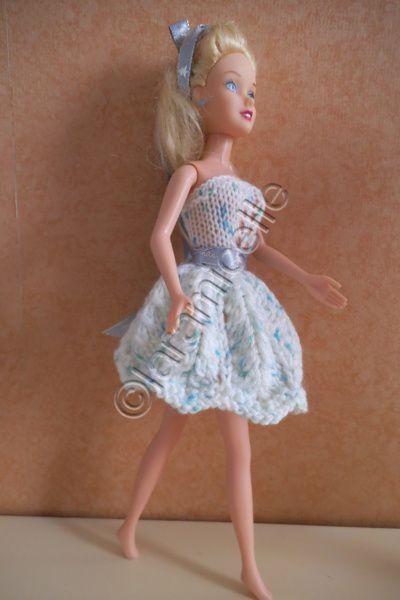 tuto gratuit barbie : robe ajourée en corolle