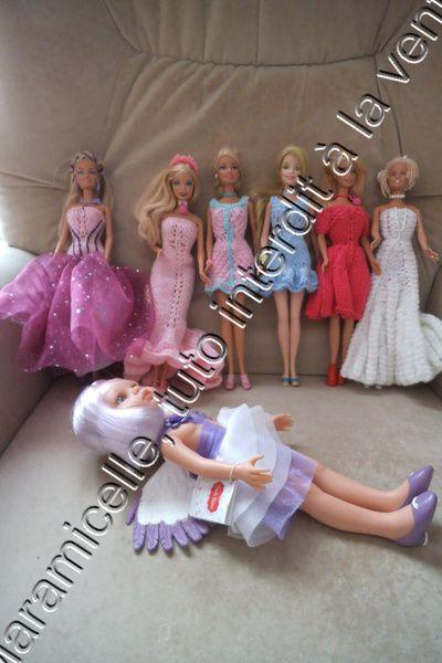 tuto gratuit Barbie: robe princesse améthyste