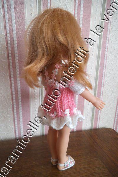 tuto gratuit poupée Poala reina/chérie de Corolle: robe estivale deux versions -plage ou ville