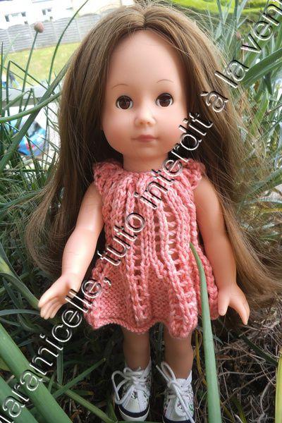 tuto gratuit poupée Götz  et autres petites  de 30 cm : robe estivale