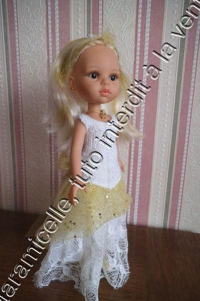 tuto gratuit poupée : robe de princesse