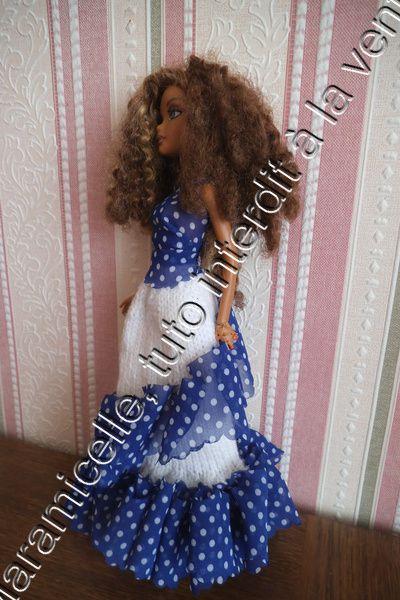 tuto gratuit barbie: robe laine et ruban