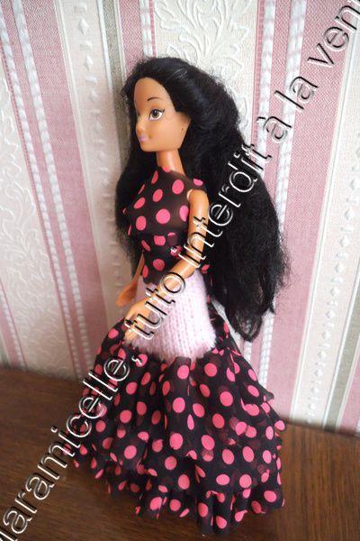 tuto gratuit barbie: robe flamenco