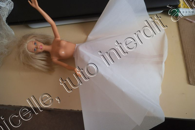 tuto gratuit barbie : jupe de mariée pour celles qui ne savent pas coudre.