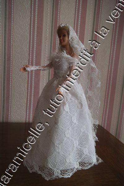 tuto gratuit barbie: robe de mariée pour tricoteuses presque débutantes