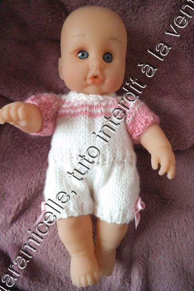 tuto gratuit poupée : body bicolore ET col roulé