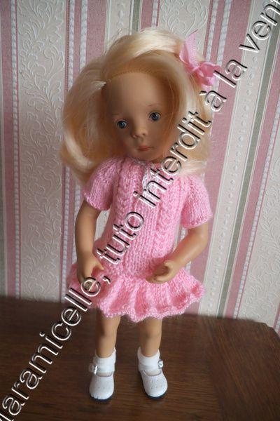 tuto  gratuit poupée : robe taille basse plissée