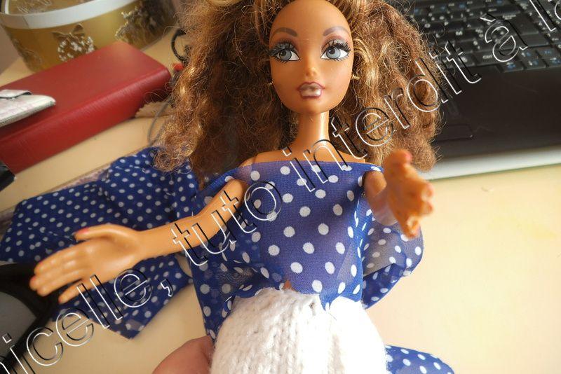 tuto gratuit poupée: petite poupée en princesse
