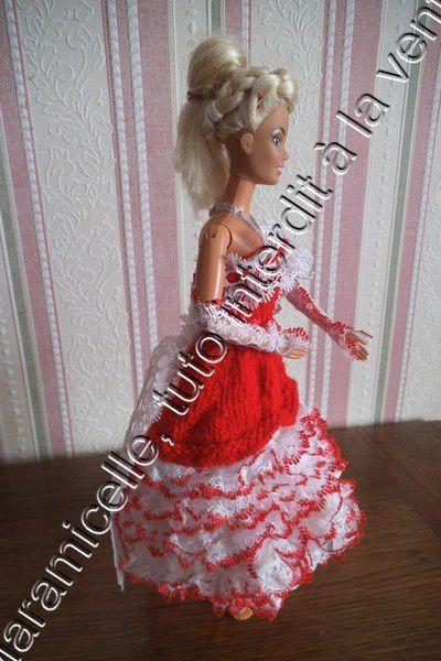 tuto gratuit barbie: robe à froufrous