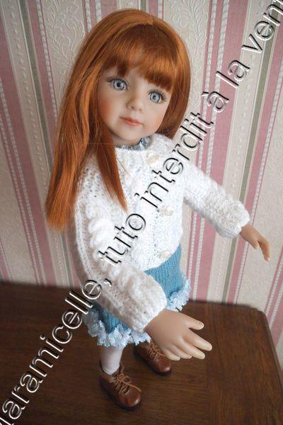tuto gratuit poupée: veste à torsades
