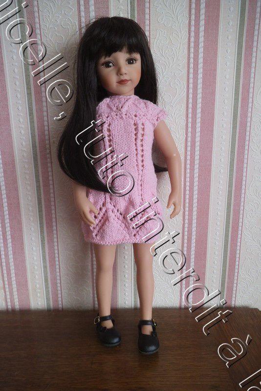 tuto gratuit poupée: robe estivale