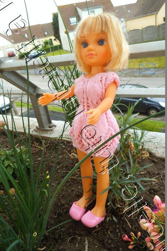 tuto gratuit poupée: robe estivale pour Nancy