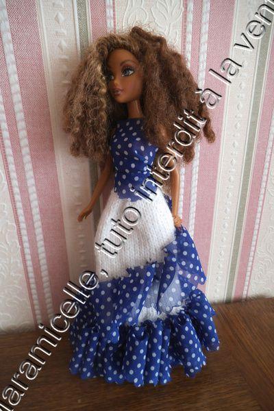 tuto gratuit poupée: robe ruban  pour Nancy