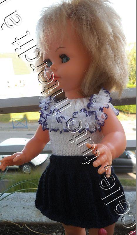 tuto gratuit poupée : jupe plissée