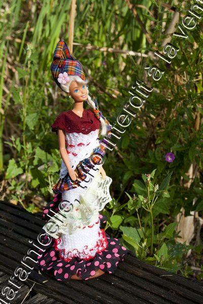tuto gratuit barbie: robe Caraïbes 3