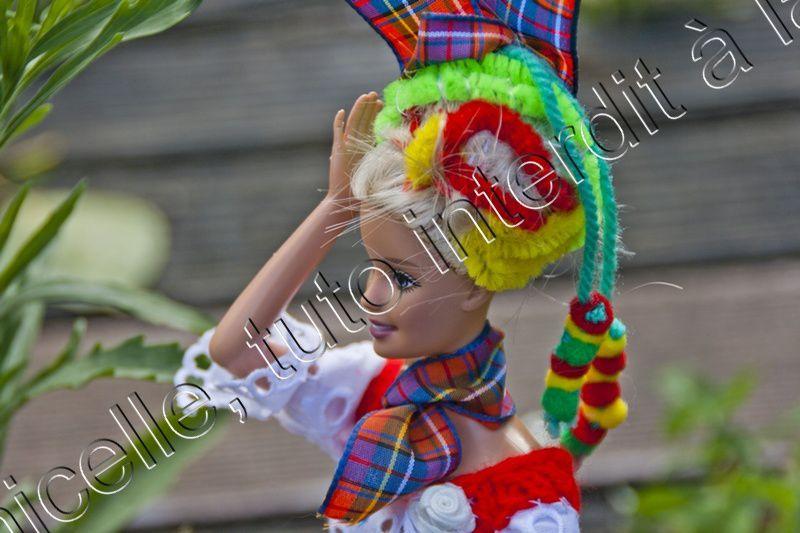 tuto gratuit Barbie : robe longue Caraïbes