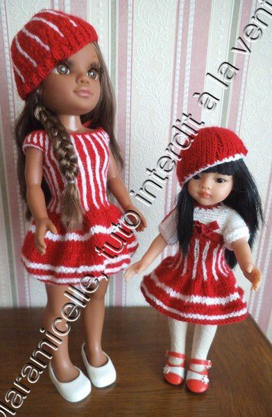 tuto gratuit poupée: bibi à deux couleurs et une perle