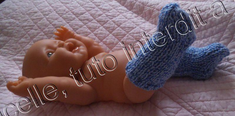 tuto gratuit poupées : des chaussettes hautes et  chaudes pour l'hiver