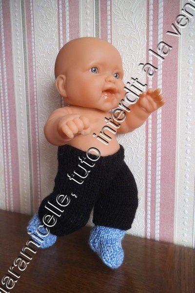 tuto gratuit poupée : pantalon pour poupon