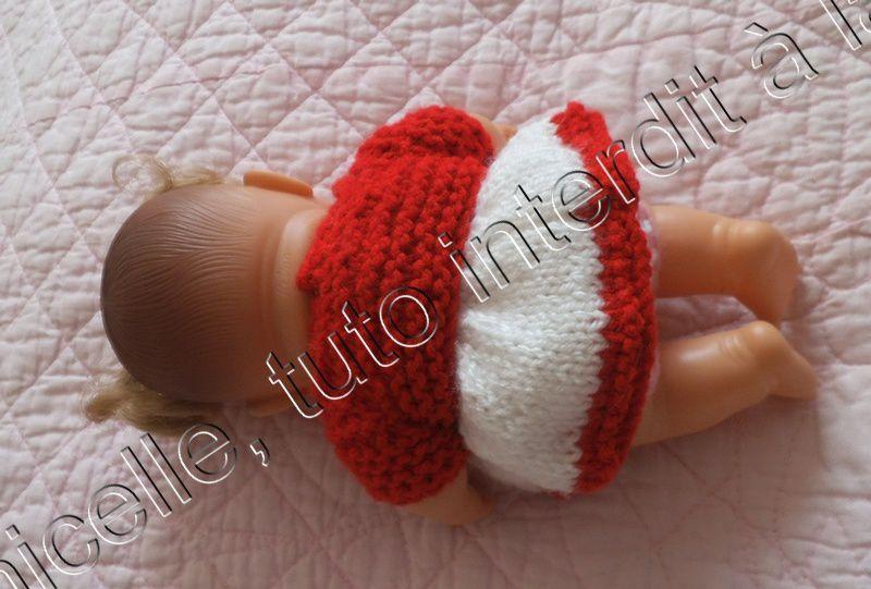 tuto gratuit poupée: boléro avec des manches, pour tricoteuses presque débutantes