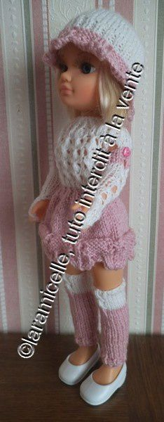 tuto gratuit poupée: jambières bicolores