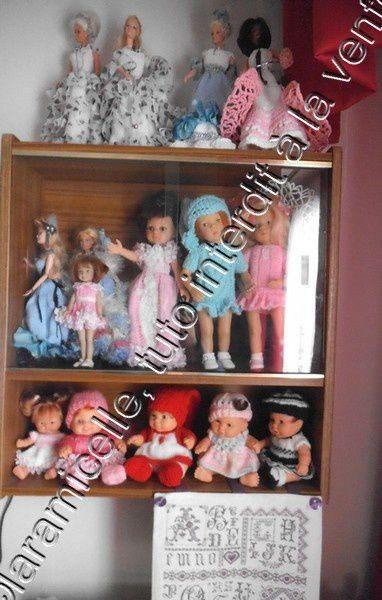 toute ma collection de poupées, ou presque