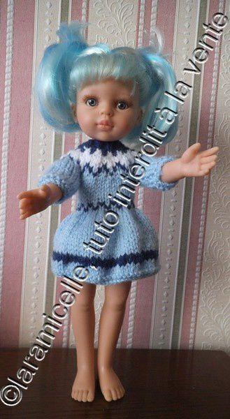 tuto gratuit poupée: robe d'hiver jacquard